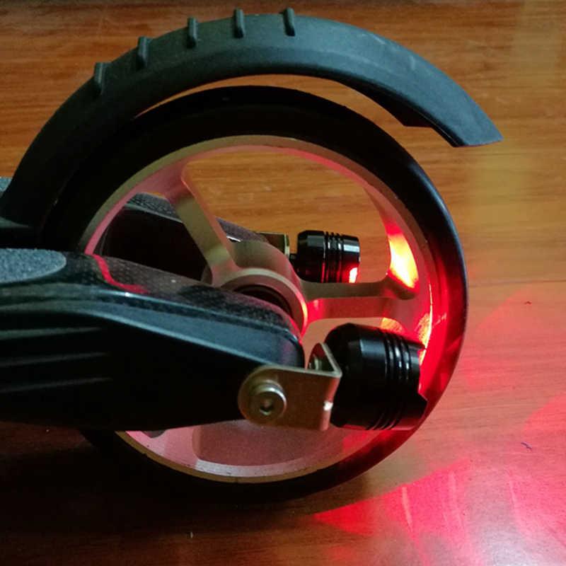 ジャックホットカーボンファイバー電動スクーターの付属品リアテールライト警告灯車のテールライト装飾ナイト安全ライト