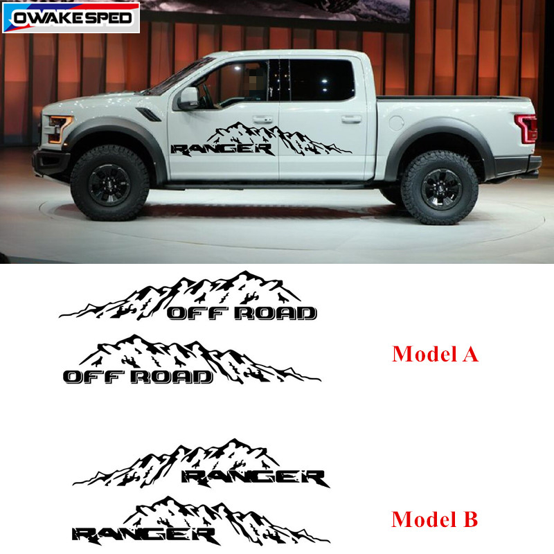 Off Road Pickup Trunk Sticker Auto Door Side Decor Sticker Car Styling Body Vinyl Decal For