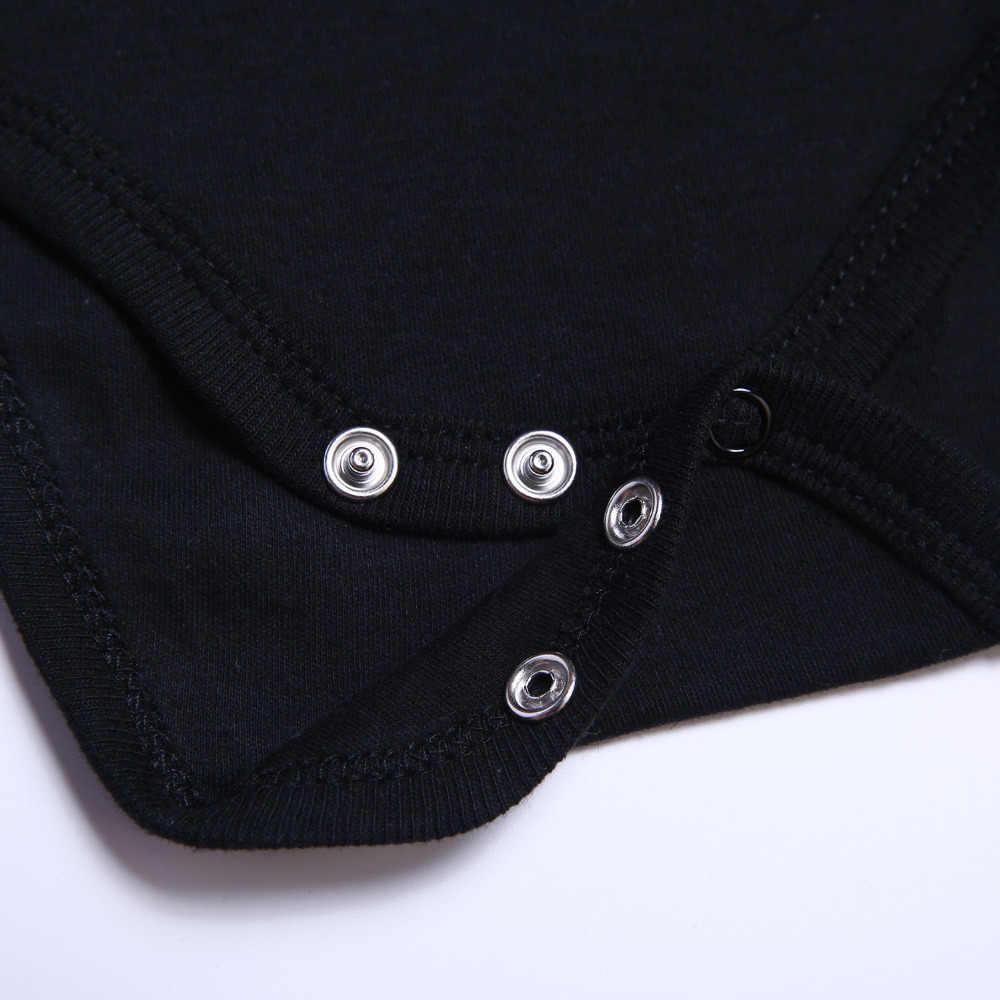 5 unids/lote mono de bebé niño niña ropa de bebé de manga corta mono recién nacido negro 100% de algodón 0-12 meses