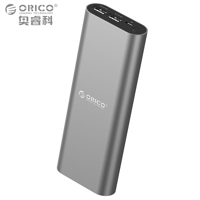 ORICO S2 18000mAh Dual USB Port Power Bank Smart Identification For IPhone 6s Samsung S6 Xiao