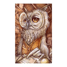 owl retro Moge Diamond Painting Full Round animal New DIY Sticking Drill Cross Embroidery 5D simple Retro style Home Decoration