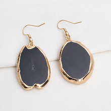 1 pair Natural Agates Slice Geode Stone Dangle Earrings for Women Girl Fashion Jewelry Party earrings