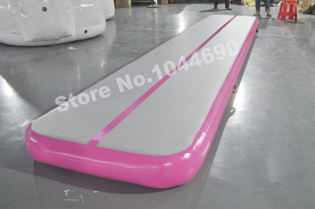 Color modificado para requisitos particulares 6*2 m pista de aire inflable mat fábrica