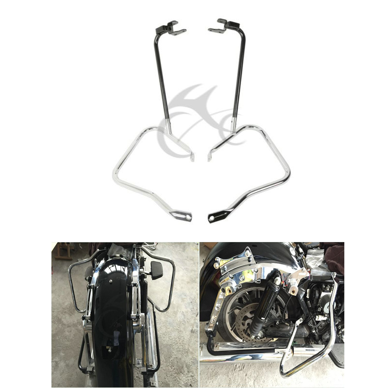 Moto Sacoche Support Garde Bar Set Pour Harley Touring Road King Electra Glide Ultra 14-18 FLHX FLHXS FLRTX 2014-2018