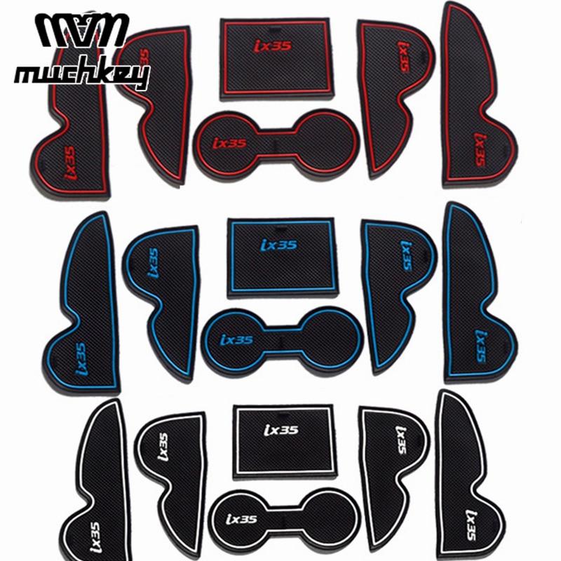 New Rubber Non Slip Mats Interior Door Pad Cup Mats For Hyundai IX35 2009 2012 2013