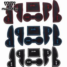 New Rubber Non-Slip Mats Interior Door Pad Cup Mats For Hyundai IX35 2009-2012 2013 2014 2015 15Pcs Auto Accessories Car Stying стоимость