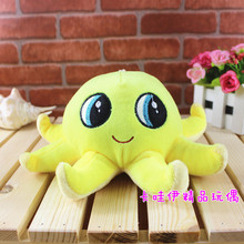 10 pieces a lot small octopus toys cute plush yellow octopus dolls gift about 20cm