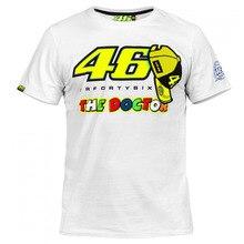 Valentino Rossi VR46 46 The Doctor Moto GP Monza Cotton T-shirt White