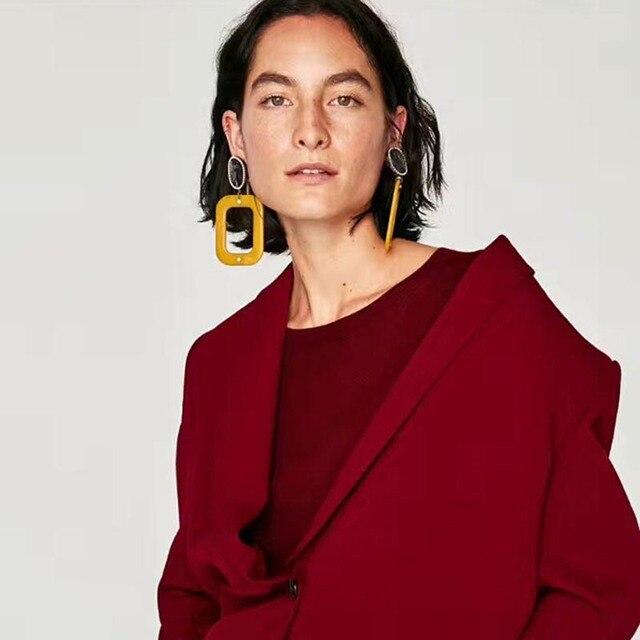 Dvacaman 2017 мода 6 видов цветов новые женские большой кристалл с Акриловые Капли серьги себе Винтаж Серьги для женщин ювелирные изделия