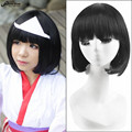 30cm Black Short Straight Haircuts Anime Noragami Nora Cosplay Harajuku Women's Wigs Lolita Cheap Synthetic Hair Women Bob Wig