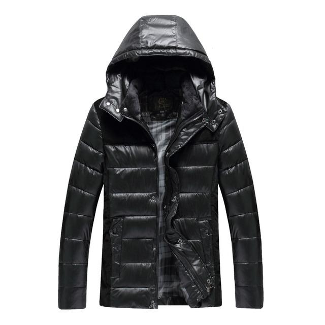 2016 outono inverno new men roupas amassado casaco outerwear casaco de algodão acolchoado roupas com um capuz térmico dos homens de algodão acolchoado