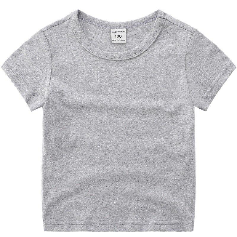 VIDMID boys girls short sleeve t-shirts clothes kids cotton summer tops t-shirts clothing boys girls solid tees tops 7060 03 6