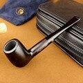 6 herramientas fumadores conjunto pipa de tabaco de madera de ébano pipa de tabaco tubería alta calidad para fumar tabaco 555BH
