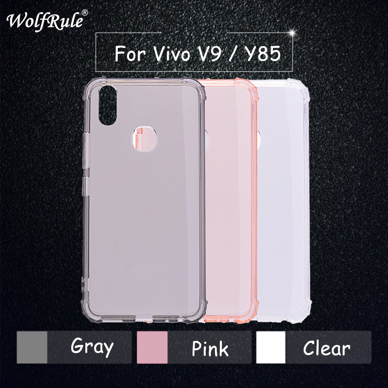 Vivo V9 Case Vivo Y85 Original Cover Soft Transparent TPU Protective Funda For BBK Vivo V9 Anti knock Clear Phone Cases 6.3