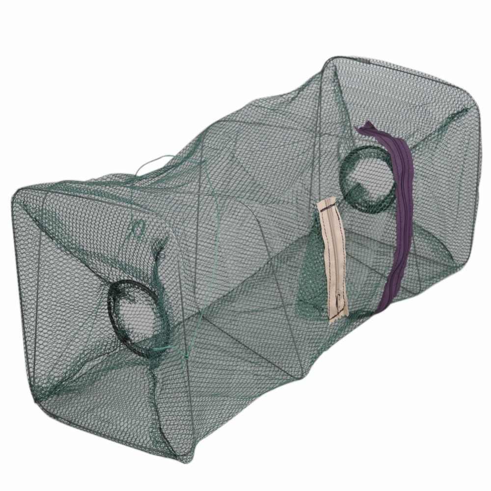 Foldable Fishing Baits Trap Crab Net Crawdad Shrimp Cast Dip Cage Fish Minnow