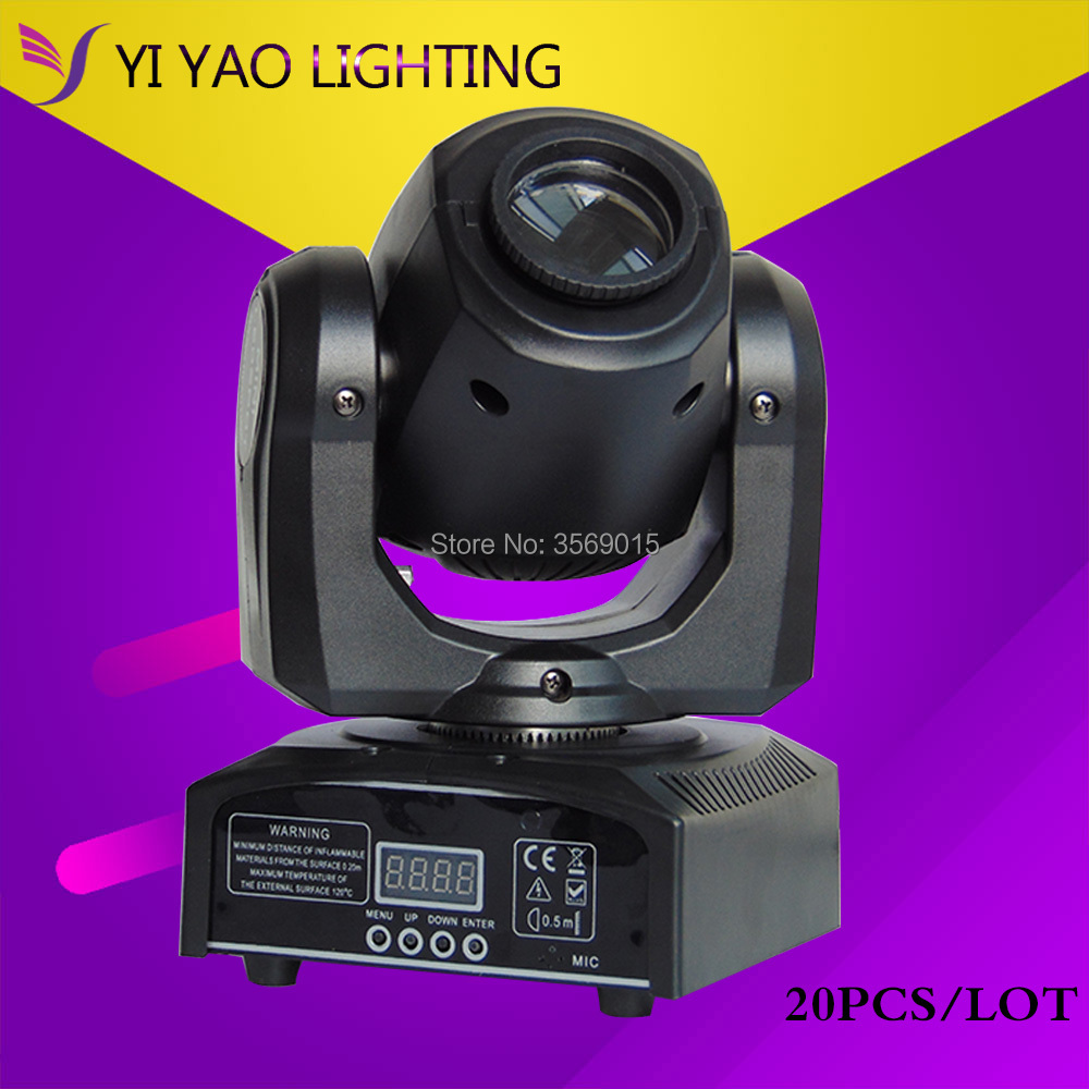 20pcs/lot 30W led spot Mini Moving Head Light DMX Controller dj 8 gobos effect stage 20pcs lot ka331 dip 8
