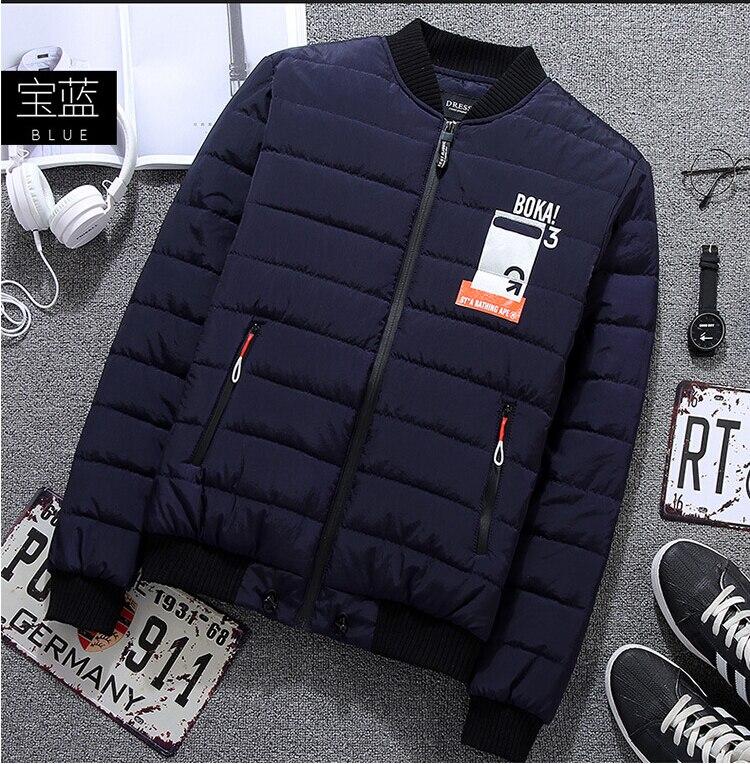 ФОТО new fashion 2017 brand winter mens jacket Thickened mens coat casual warm