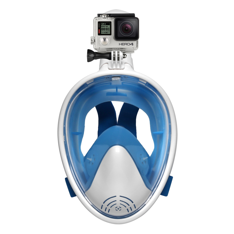Full Face Diving Mask Underwater Anti Fog Scuba Snorkeling Mask Swimming with Anti-skid Ring Earplug for Gopro Camera Swimmer