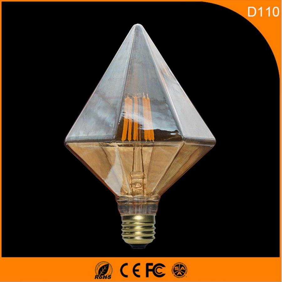 50 шт. 6 Вт Винтаж b22 e27 светодиодные лампы, d110 Ретро Эдисон лампа для Гостиная Спальня Кофе баров AC 220 240 В