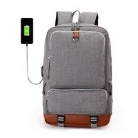 BOSEVEV Men S Backpack Luminous Student School Bags External USB Charge Laptop Backpacks Teenagers Travel Mochila