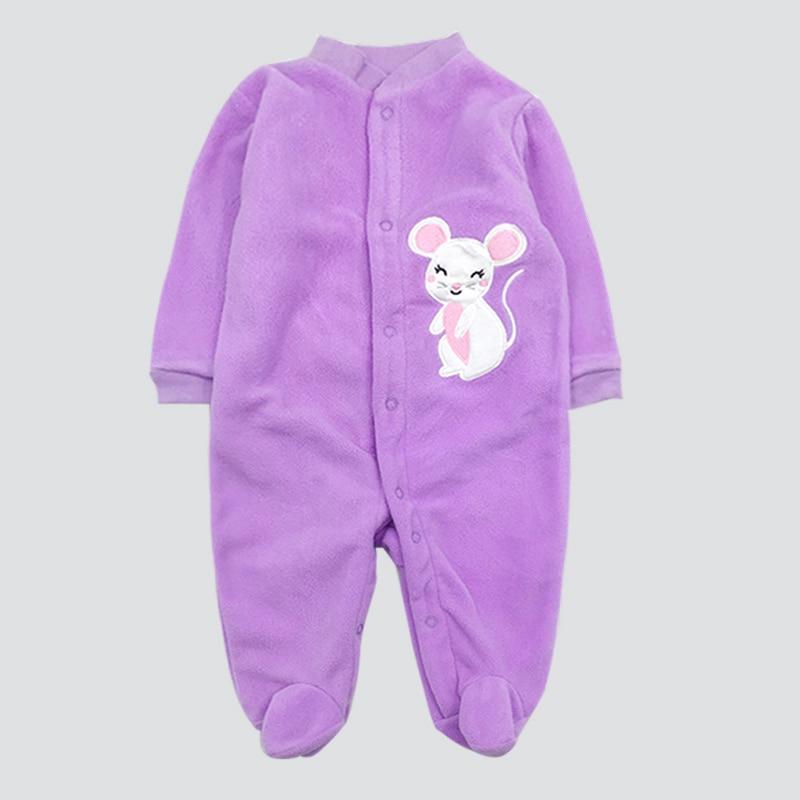 Unisex Baby Rompers Cartoon Animal Clothing Set Winter Girls Warm Fleece Clothes Boys Foot Overalls Newborn Infant Jumpsuit