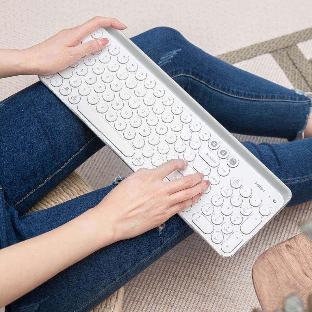 Image 5 - Xiaomi Miiiw 2.4G Wireless Keyboard 102 Keys Bluetooth Keyboard For Desktop/Laptop/Computer/Tablet/Phones/iPad/iPhone/Huawei-in Keyboards from Computer & Office