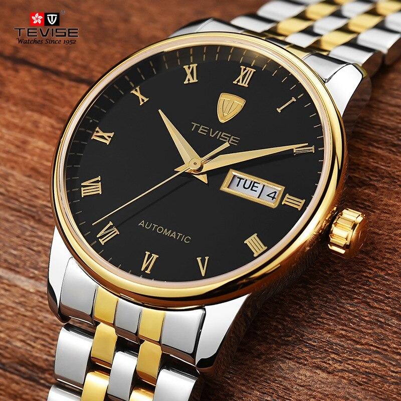 ФОТО TEVISE Men Watch Sapphire Crystal Luxury Watch Automatic Self Wind Business Mechanical Wristwatch Relogio Masculino high quality