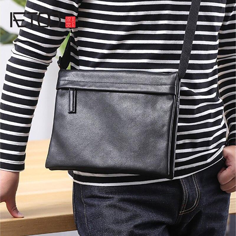 AETOO Fashion hundred shoulder bag, new leather man bag, retro head cowhide oblique cross BagAETOO Fashion hundred shoulder bag, new leather man bag, retro head cowhide oblique cross Bag