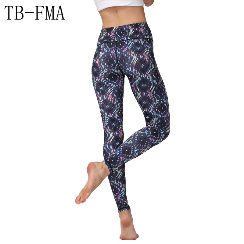 Floral Printed Yoga Pants Women Widen Waist Dance Fitness Leggings Running Tights Sportswear Female Trousers Compression Female