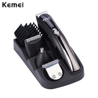 Kemei Professional Hair Clipper Electric Shaver Beard Nose Hair Trimmer Cutters Full Set Face Body Hair Removal Personal Care