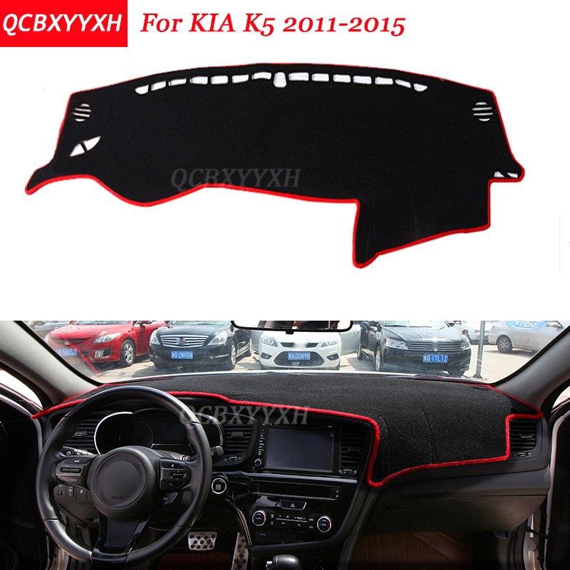 Car Styling Dashboard Avoid Light Pad Polyester For KIA K5 2011 2015 Instrument Platform Cover Protective Mats
