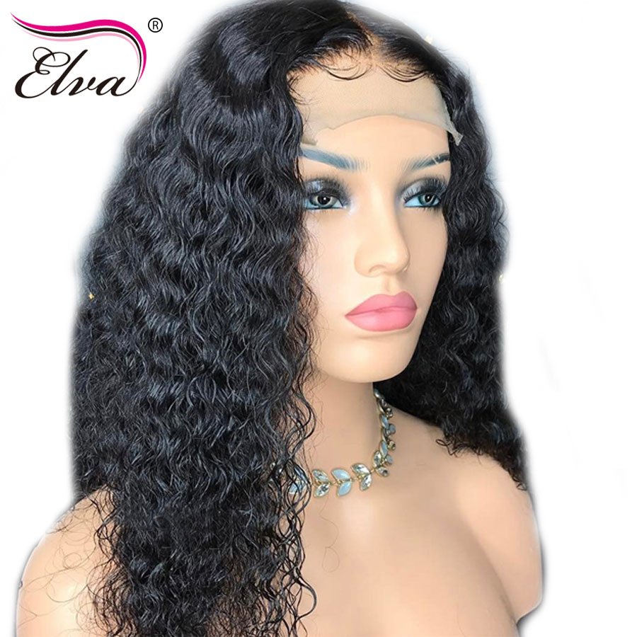 Elva Hair 150% Density Curly Lace Front Human Hair Wigs 13x6 Remy Hair Lace Front Wig Pre Plucked Hairline With Baby Hair 8-24