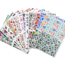 BORN PRETTY 1 Sheet 2 Patterns Water Decals DIY Nail Art Transfer Stickers Nail Decoration Tools 15 Themes Available