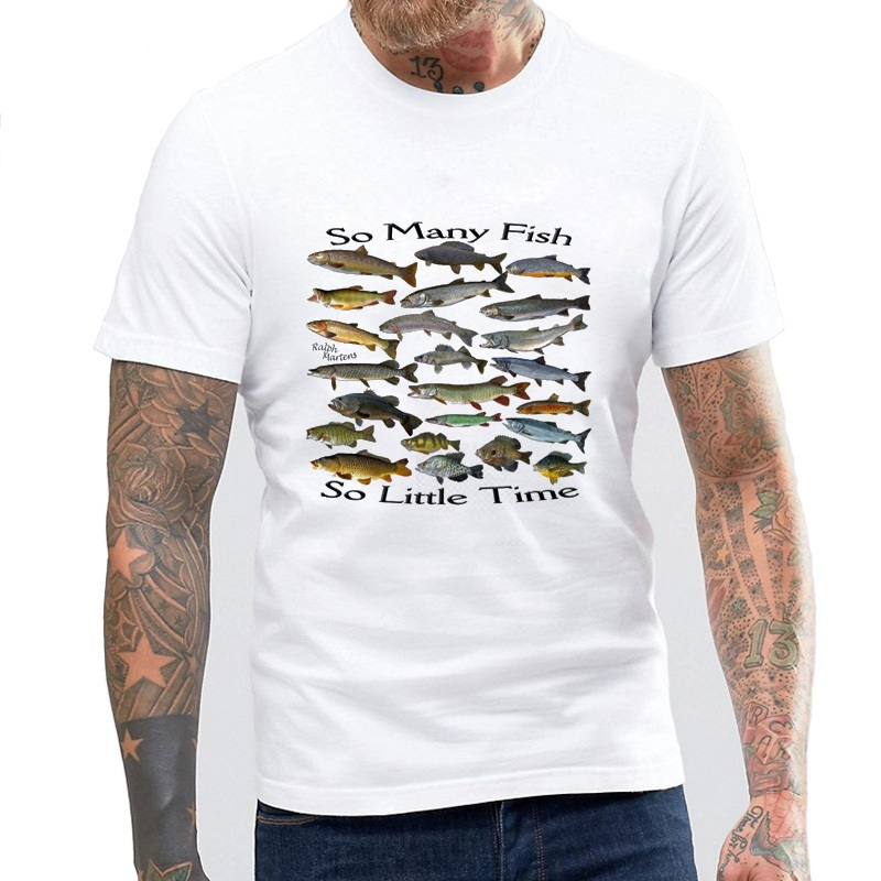 So Many Fish Freshwater T Shirt Birthday Gift For Dad Him Husband