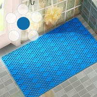 2018 PVC Bathroom Mat Toilet Mats Shower Bathroom Carpet Suction Anti Slip Sucker Rugs Home Living Waterproof Bath Mat Decor