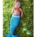 Bebé recién nacido Fotografía Atrezzo Infantil Bebé Mermaid Costume Fish Starfish Bebé Niñas Diadema de Ganchillo Hecho A Mano Apoyos de la Foto