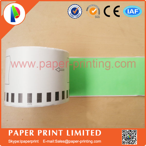 60 Refill Rolls Compatible Green DK 44605 Label 62mm3048M Continuous For Brother Printer Paper 4605 In Ribbons From