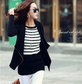 Мода женская одежда Внешней Торговли Весна Все Матч Досуга Орфографии Цвет Боковой Молнии Небольшие Свободные Пальто Женщина куртка
