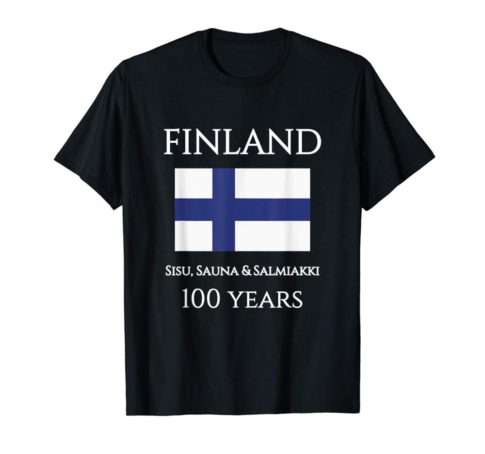 2019 Newest Men'S Funny Suomi <font><b>Finland</b></font> 100 Years <font><b>Shirt</b></font> | Finnish <font><b>Flag</b></font> <font><b>Shirt</b></font> T <font><b>Shirt</b></font> image