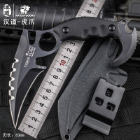 HX Outdoors Fixed Blade Claw Knife Karambit Camping Knifes D2 Steel Tactical Straight Fox Knife G10