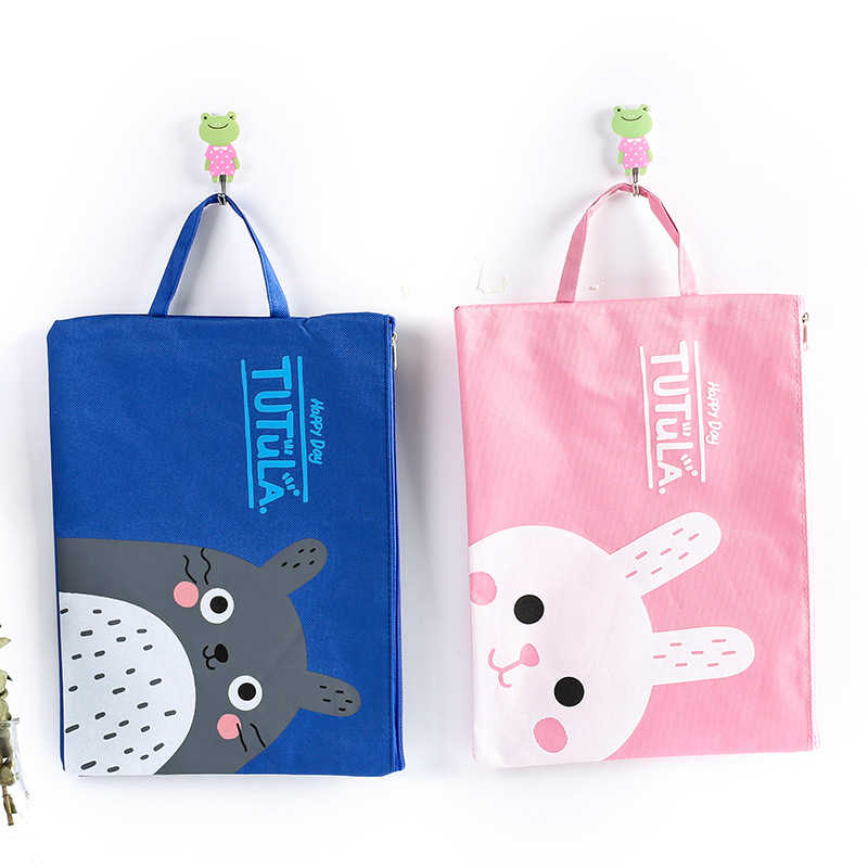 Cute Cartoon Cat Totoro File Folders Zipper Bag Kawaii A4 File Holder For Documents Kids Gift Stationery Office School Supplies