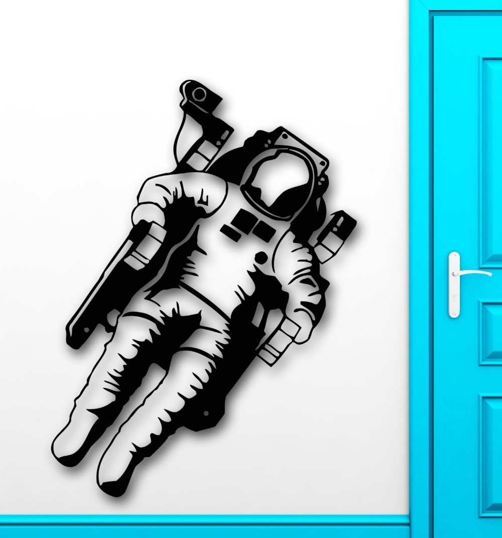 Wall Stickers Vinyl Decal Astronaut Space Universe Stars Kids Baby Room