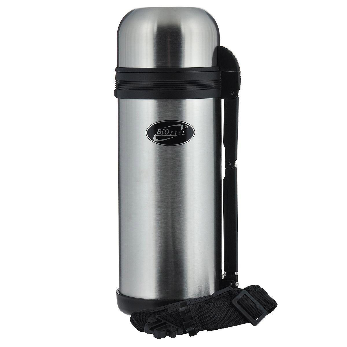 Thermos BIOSTAL NG-1500-1 (Volume 1.5 liter, stainless steel, time of heat preservation 19 hours, foldable handle) new safurance 200w 12v loud speaker car horn siren warning alarm stainless steel home security safety