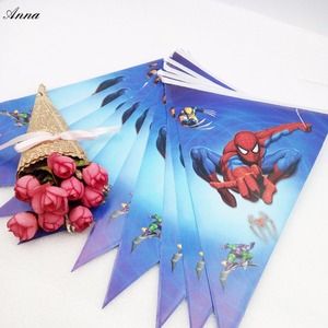 Image 5 - 82pcs Spiderman Birthday Party Supplies Disposable Plate/Cup/Tablecloth/Fork/spoon napkin Baby Shower Decoration kids Favors