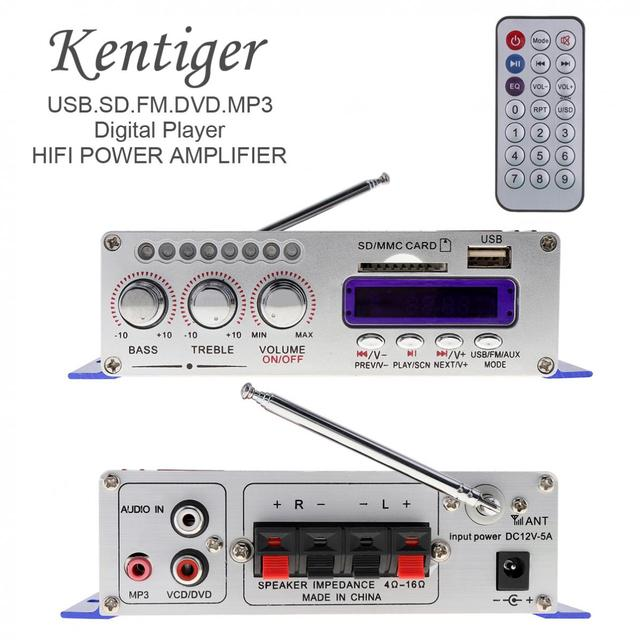 Cheap HY502 Digital Display Hi-Fi 2CH Car Stereo Power Amplifier AMP Support for iPod USB MP3 FM SD Jack Input with Remote Control