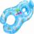 Geniune Nueva Venta Caliente Paternidad Madre y Del Bebé Anillo de Natación Con Campanas de Color Grueso Círculo Favorable Al Medio Ambiente