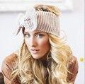 New Ear Inverno Lã Headband para a Mulher Menina Acessórios Para o Cabelo Banda de Cabeça para a Menina Headwrap Turbante Top Bow Hairband Malha