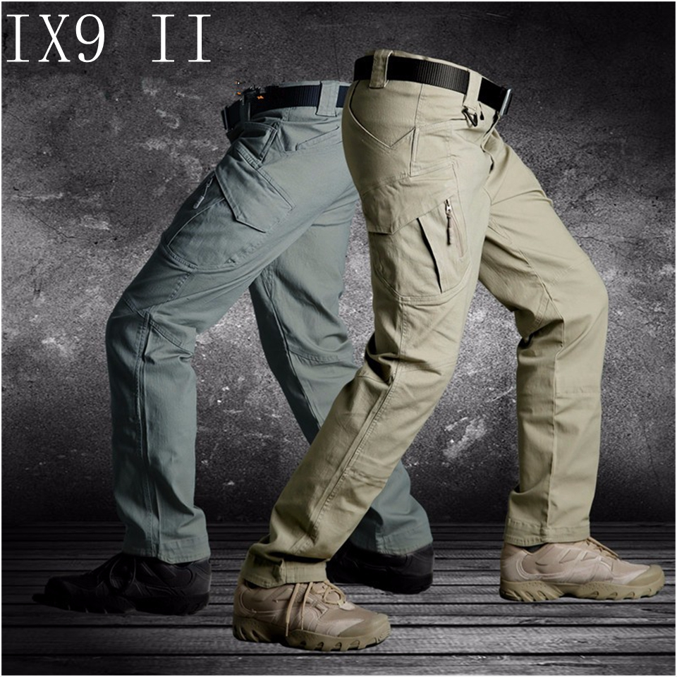 IX9(II) Men Militar Tactical Cargo Outdoor Pants Combat Swat Army Training Military Pants Sport Trousers for Hiking Hunting outdoor camo hiking pants men army combat hunting pants with knee pads tactical military man trousers camping pantalon hombre