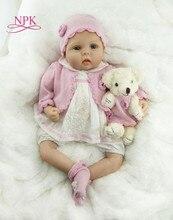 NPK 55 cm soft real touch doek lichaam zachte siliconen Vinyl Reborn Baby Pop Speelgoed Voor Meisje Jongens Pasgeboren Poppen bebes reborn pop