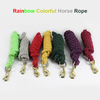 2 1m Rainbow Colorful Solid Cotton Lead Horse Rope For Horse Riding Racing Equipment Horse Equestrian